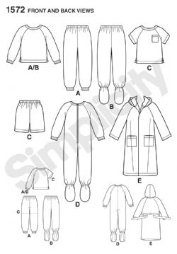 1572 Simplicity Pattern: Toddlers' and Child's Sleepwear and Robe